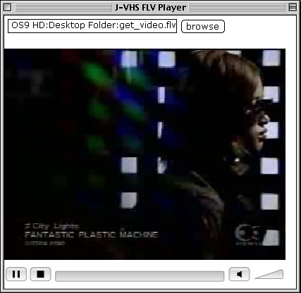 OS9 J-VHS FLV Playerでの再生