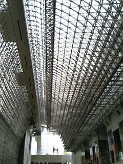 京都駅ビルの巨大な屋根