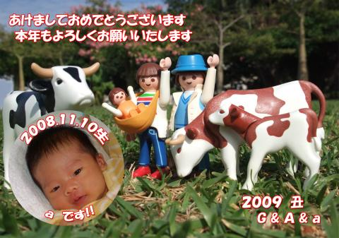2009丑 あけおめ-☆